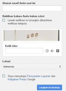 Buktikan Bahwa Anda bukan robot google