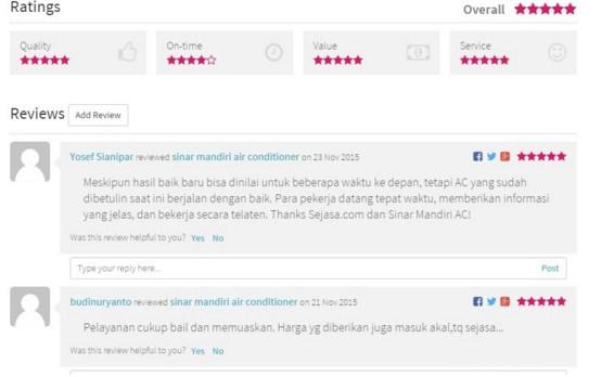 Review Penyedia Jasa