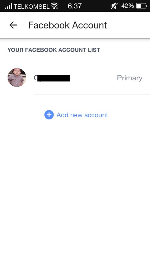 Add Account FB