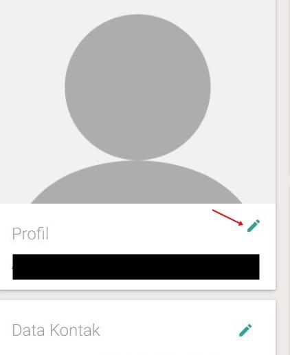 silahkan setting profil